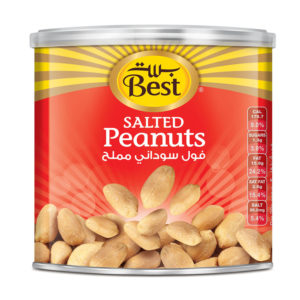 BEST ROASTED AND SALTED PEANUTS CAN 300 GM