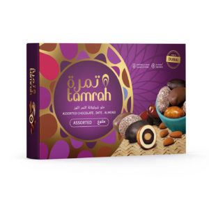 TAMRAH ASSORTMENT DATE CHOCOLATE WITH ALMOND	BOX	270 GM