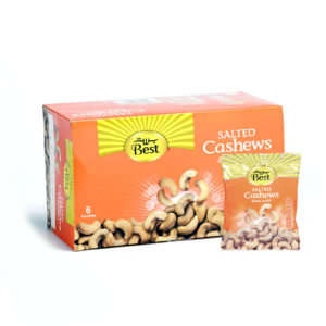 BEST ROASTED AND SALTED CASHEWBOX50 GM (6 PCS)