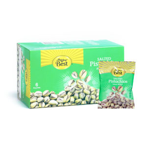 BEST ROASTED AND SALTED PISTACHIO BOX 50 GM (6 PCS)