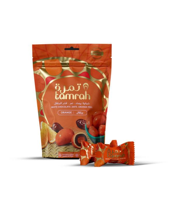 TAMRAH DATE WITH ORANGE SLICE COVERED WITH ORANGE CHOCOLATE BAG 100 GM