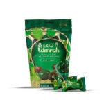 TAMRAH DATE WITH ALMOND COVERED WITH CHEESECAKE CHOCOLATE BAG100 GM