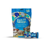 TAMRAH DATE WITH ALMOND COVERED WITH COCONUT CHOCOLATE BOX 250 GM