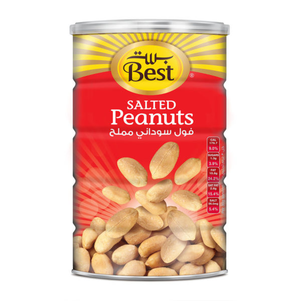 BEST ROASTED AND SALTED PEANUTS CAN 550 GM