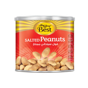 BEST ROASTED AND SALTED PEANUTS CAN 110 GM