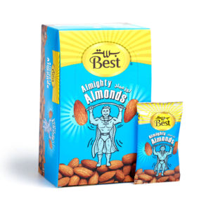 BEST ROASTED AND SALTED ALMOND BOX 13 GM (24 PCS)