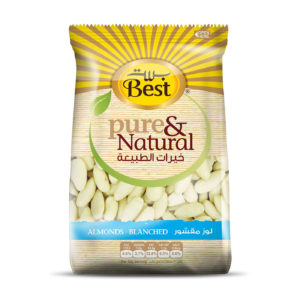 BEST RAW WHOLE BLANCHED ALMOND  BAG 325 GM