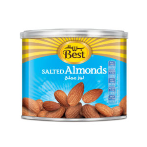 BEST ROASTED AND SALTED ALMOND CAN 110 GM