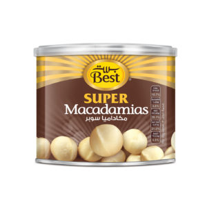 BEST ROASTED AND SALTED JUMBO MACADAMIA CAN 110GM