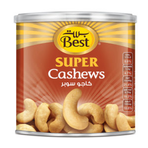 BEST ROASTED AND SALTED JUMBO CASHEW CAN 275 GM
