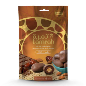 TAMRAH DATE WITH ALMOND COVERED WITH MILK CHOCOLATE BAG 500 GM