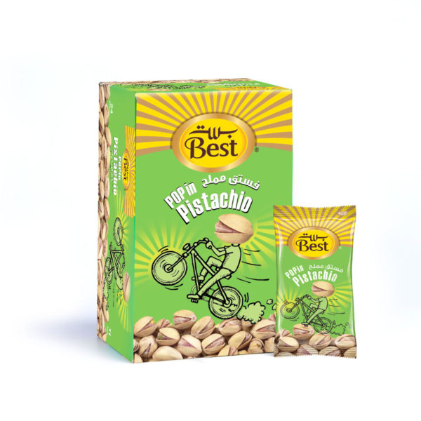 BEST ROASTED AND SALTED PISTACHIO BOX 13 GM (24 PCS)