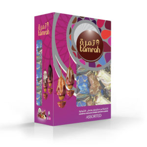 TAMRAH ASSORTMENT DATE CHOCOLATE WITH ALMOND BOX 400 GM