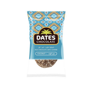 DATES CHOCOLATE – DATE WITH ALMOND COVERED WITH COCONUT CHOCOLATE BAG 3KG