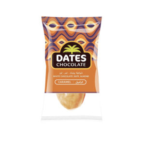 DATES CHOCOLATE – DATE WITH ALMOND COVERED WITH CARAMEL CHOCOLATE BAG 3KG