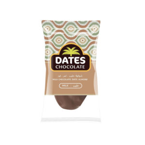 DATES CHOCOLATE – DATE WITH ALMOND COVERED WITH MILK CHOCOLATE BAG 3KG