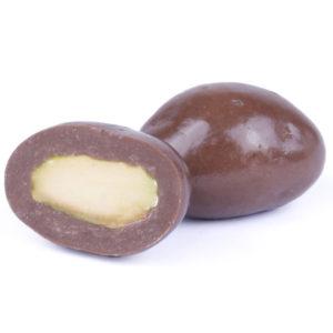 PISTA COATED WITH MILK CHOCOLATE