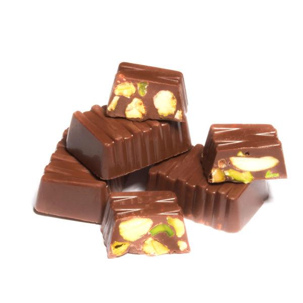 MILK CHOCOLATE WITH WHOLE PISTACHIO