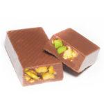 MILK CHOCOLATE WITH BROKEN HAZELNUT