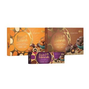 TAMRAH GIFT BOXES CARAMEL 310 GM, ASSORTED 270 GM AND MILK 180 GM AT 25% OFF