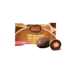 TAMRAH MILK CHOCOLATE WITH DATE & PEANUT BAG 500GM